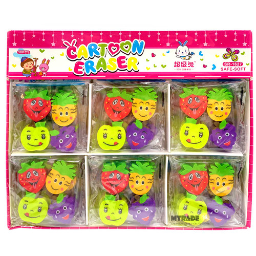Fruit Erasers 30 packs/box