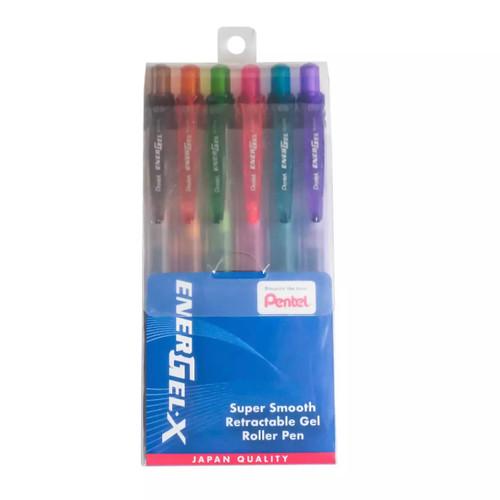 Pentel Energel-X Gel Roller Pen 0.5mm (6 Color/Set BLN105-EV)