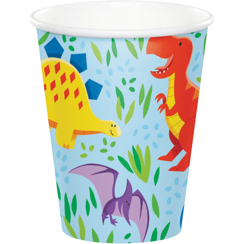 Dinosaur Friends 8 oz Paper Cups