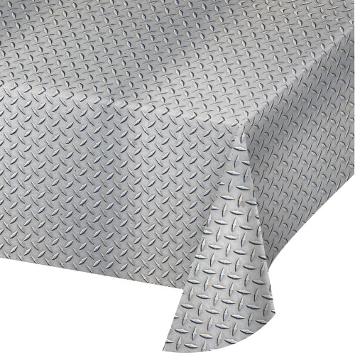 Diamond Plate Plastic Tablecover