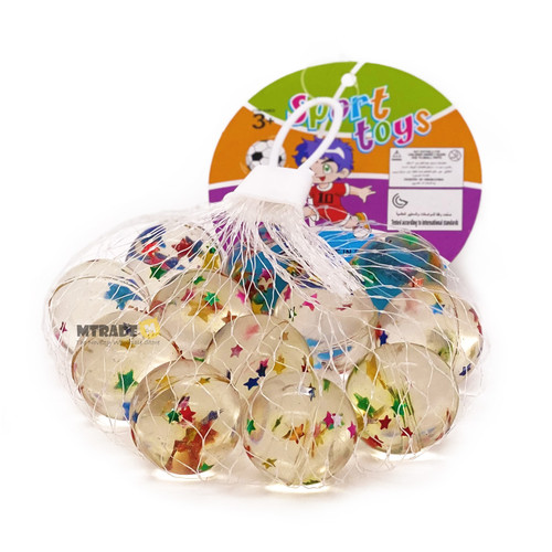 2.7cm Star Bouncy Balls 12pcs/pack