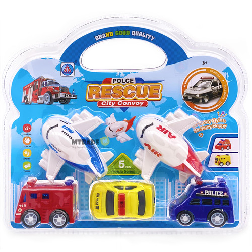 Mini Pullback Transportation Vehicle Toys 5pcs/pack