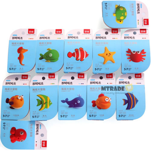Sea Animal Light Clay 12set/box