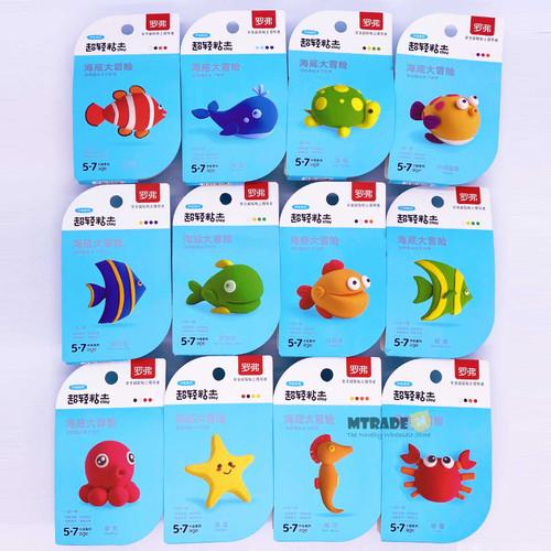 Sea Animal Light Clay 12set/box