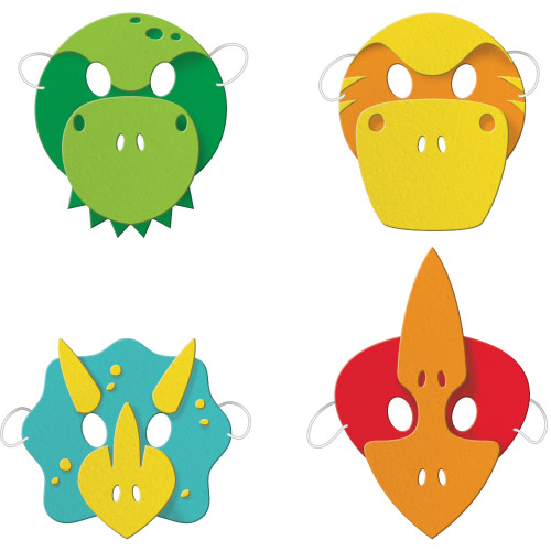 Boy Dino Child Size Foam Masks