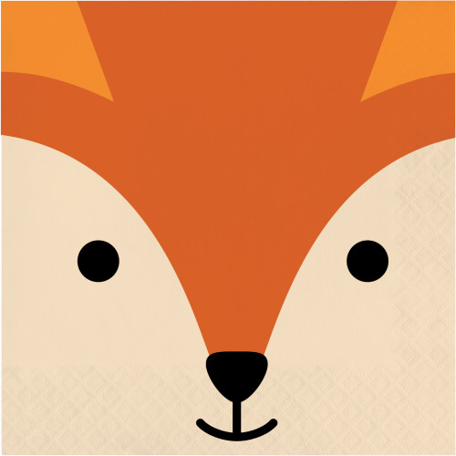 Animal Faces Fox Lunch Napkins