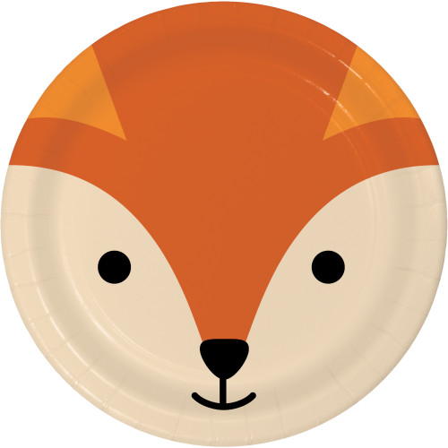"Animal Faces Fox 7"" Lunch Plates"