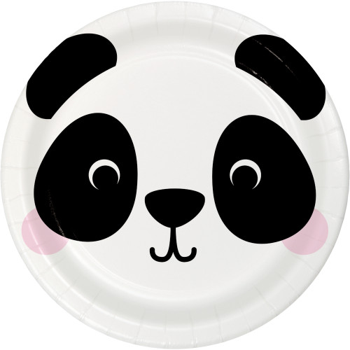 "Animal Faces Panda 9"" Dinner Plates"