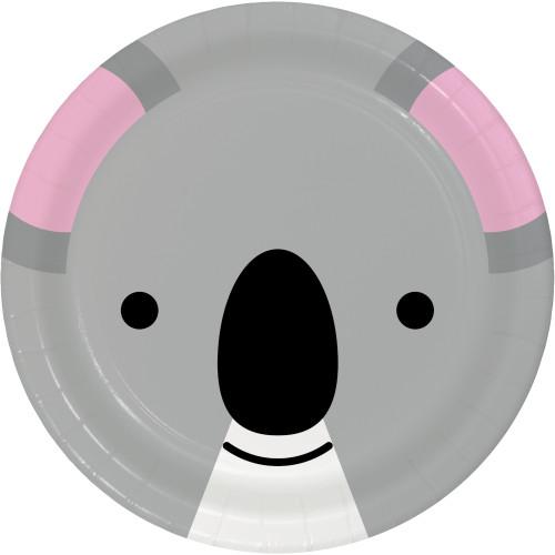 """Animal Faces Koala 9"""" Dinner Plates"""
