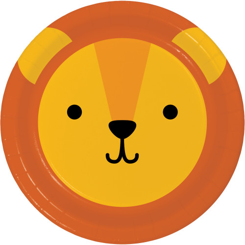 "Animal Faces Lion 7"" Lunch Plates"
