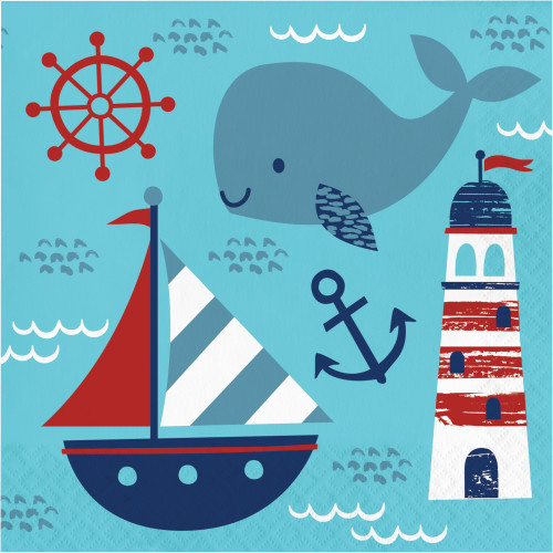 Nautical Baby Lunch Napkins