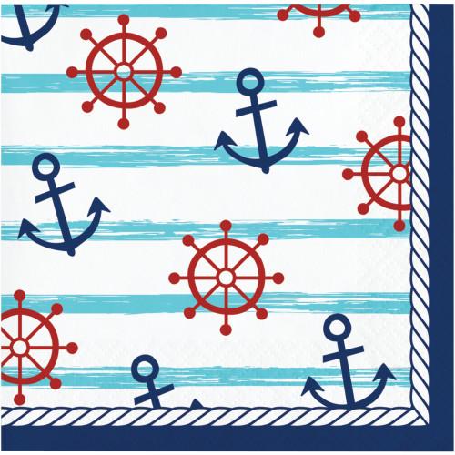 Nautical Baby Beverage Napkins