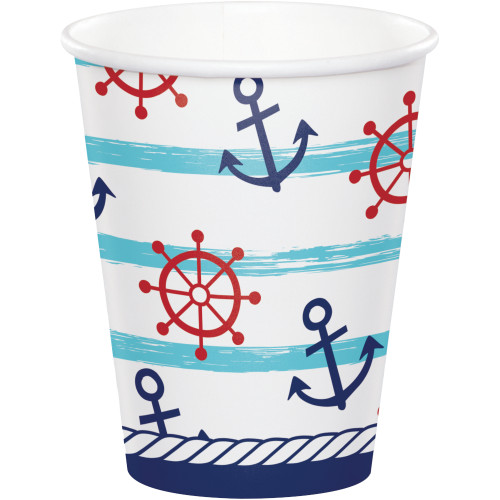 Nautical Baby 9 oz Paper Cups