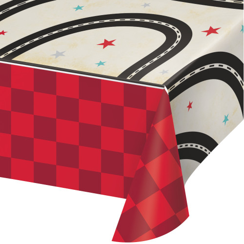 Vintage Race Car Paper Tablecover