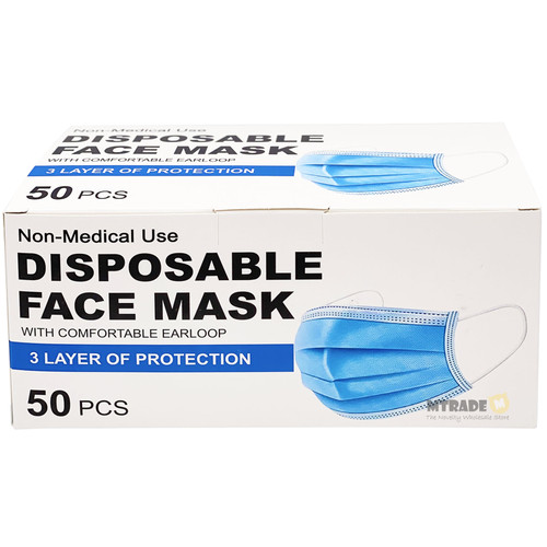 3-Layer Disposable Face Mask 50pcs/box