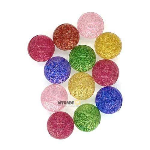 2.7cm Glitter Bouncy Balls 12pcs/pack