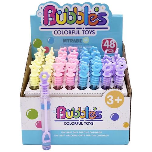 Mini Pastel Bubble Tubes 48pcs/box