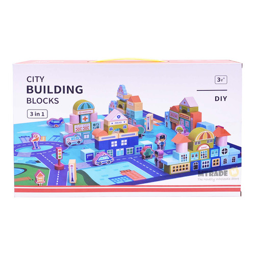 3 in 1 City Building Blocks Set