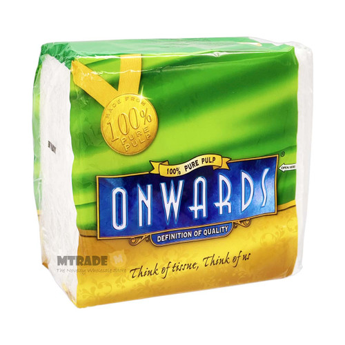Onwards White Serviette 1-Ply Beverage Napkins