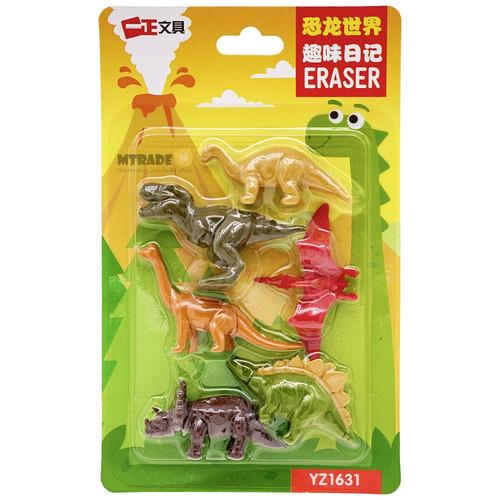 3D Dinosaur Erasers 6pcs/pack