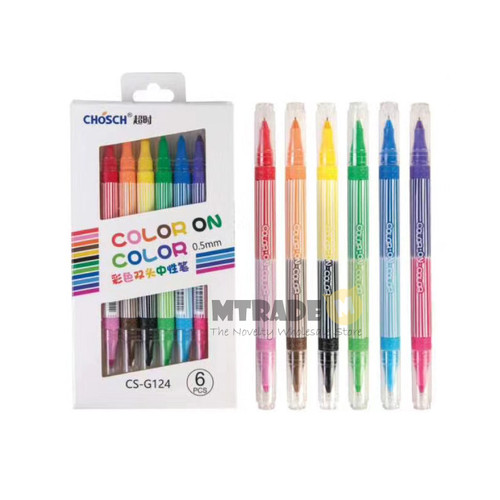 CHOSCH Color On Color Gel Pen 0.5mm 12 Color/Set CS-G124