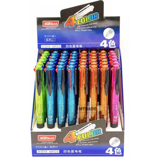 TenFon 4-Color Ink Multi-Ballpoint Pen 0.7mm 48pcs/box