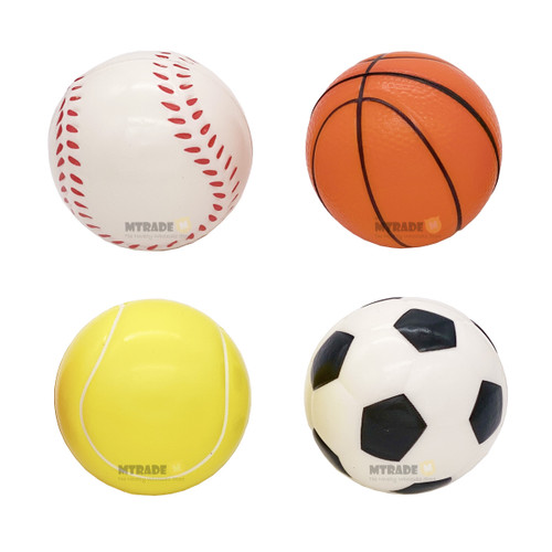 Sports Stress Ball Assorted Design 1pcs/pack