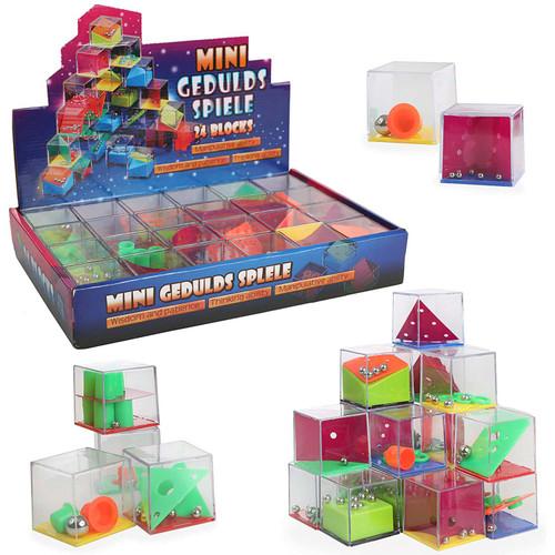 Mini Geduldspiele Cube Brain Teasers 24pcs/box