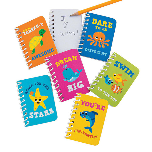 Under The Sea Mini Spiral Notebooks