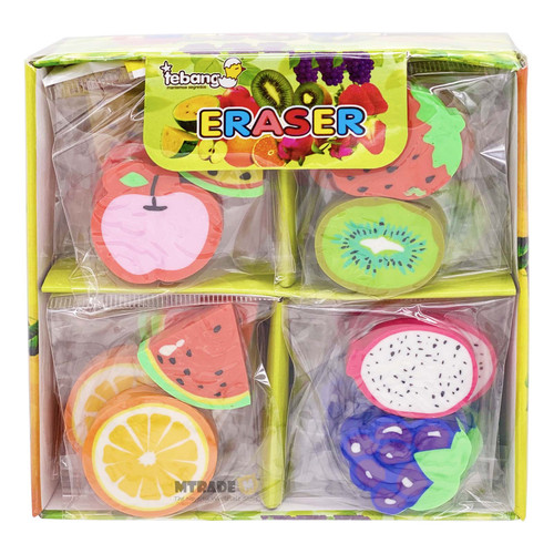 Fruit Erasers 24 packs/box