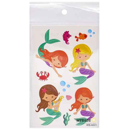 Cute Mermaid Tattoos 20 sheets/pack