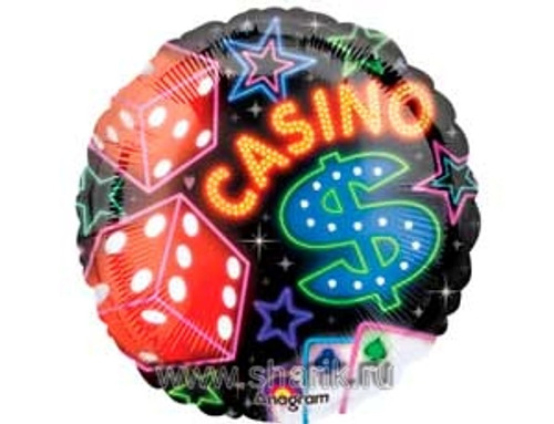 """18"""" Casino and Dices Balloon"""