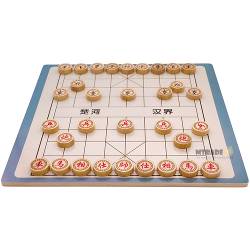 2 in 1 Wooden Chinese Chess and Army Chess