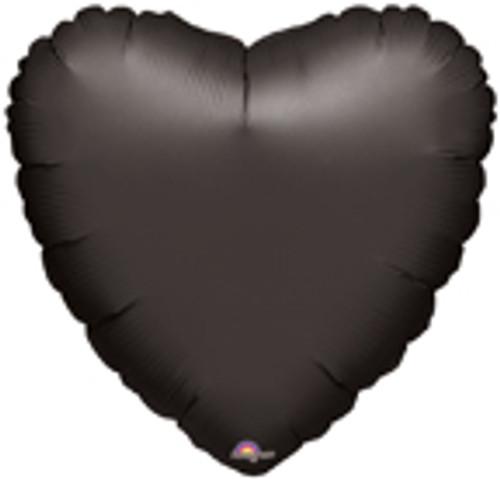 "18"" Black Heart Foil Balloon"