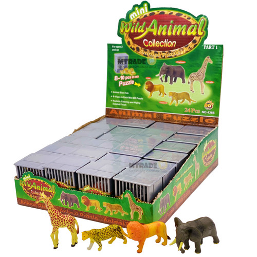 3D Wild Animal Puzzle Figure 24pcs/box