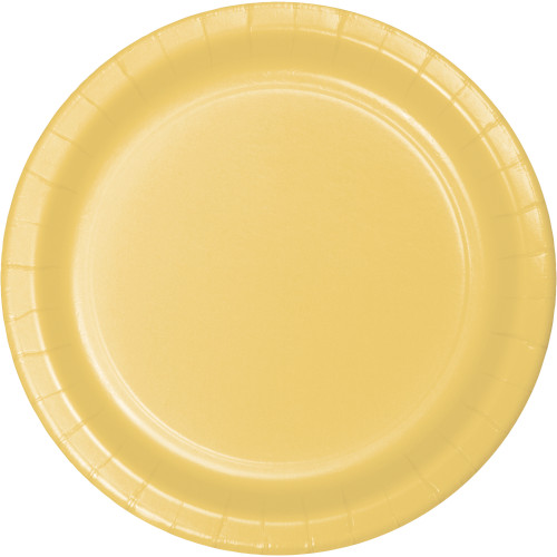 "Soft Yellow 7"" Paper Plates"
