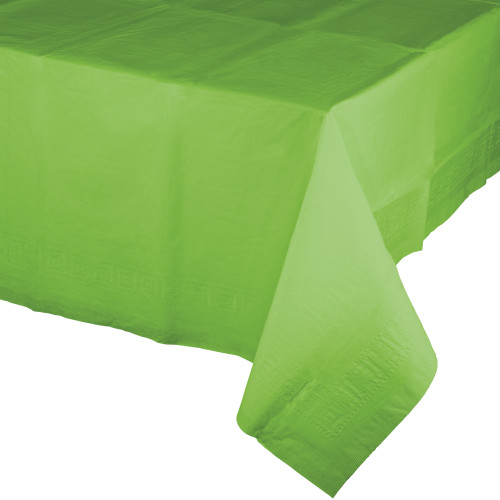 Fresh Green Plastic Lined Tablecover