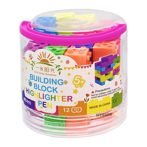Building Block Highlighter 12pcs/bottle