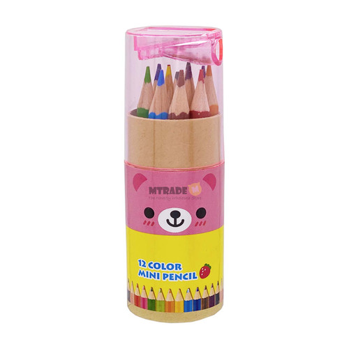 Cute Mini Color Pencil 12 colors with Sharpener