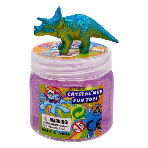 Crystal Mud with Dinosaur Toy 1 Bottle