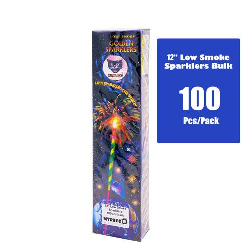 "12"" Low Smoke Sparklers 100pcs/pack"