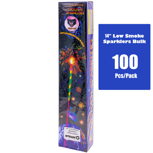 "14"" Low Smoke Sparklers 100pcs/pack"