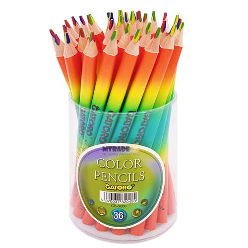 4 in 1 Multicolor Pencils 36pcs/Bottle