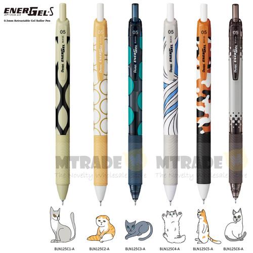 Pentel EnerGel-S Gel Roller Pen 0.5mm Black Ink 6pcs/set BLN125-C1C6