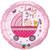 "18"" Rachel Ellen Baby Girl Stroller Balloon"