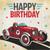Vintage Race Car Lunch Napkins