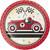 """Vintage Race Car 7"""" Lunch Plates"""