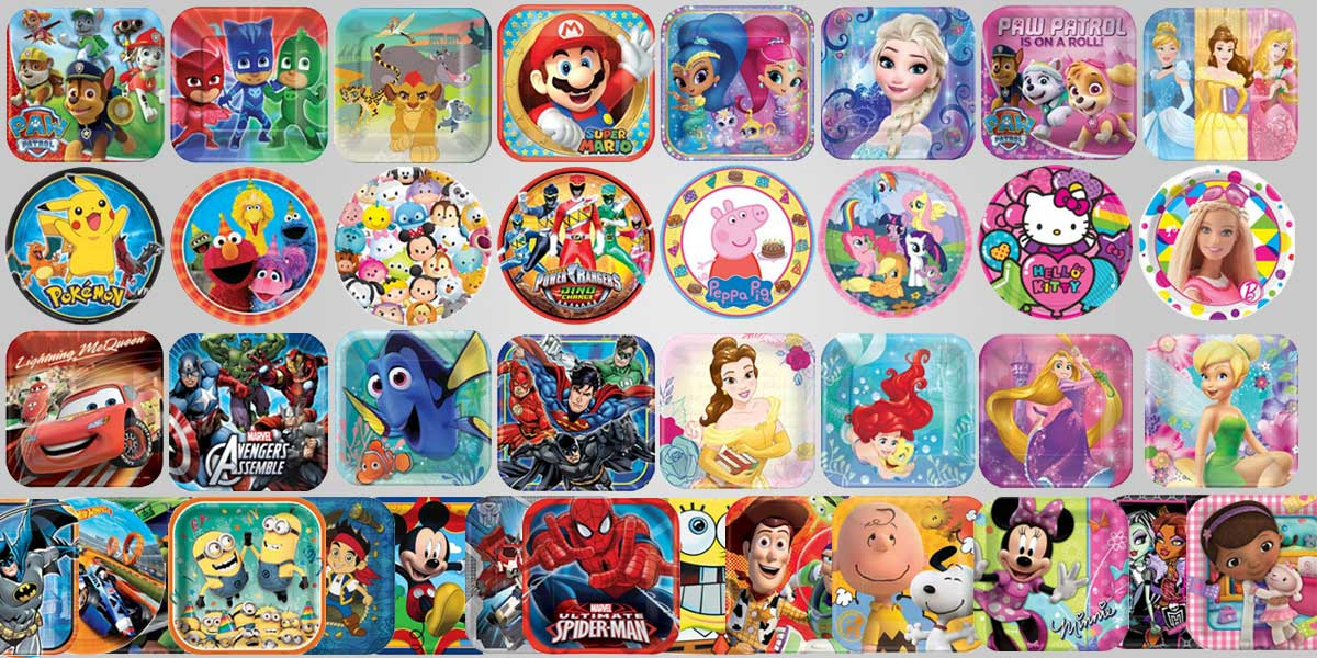 Kids Licensed Party Supplies Characters Birthday
