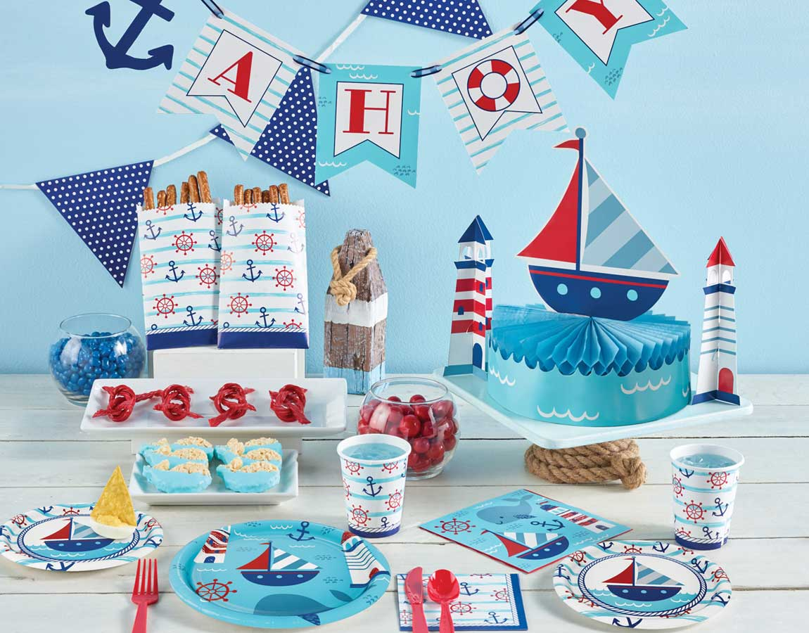 Nautical Baby Party Supplies Singapore