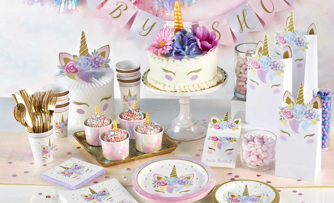 Unicorn Baby Party Supplies Singapore